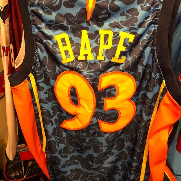 Warriors Bape nba Jersey dd7e1807d